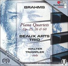 Brahms: Piano Quartets, Opp. 25, 26, 60 Super Audio CD (CD, Feb-2006, 2...