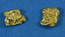 Alaskan-Yukon BC Natural Gold Nugget Stud Earrings .60 to .70 Grams