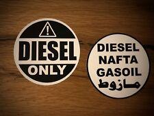 2x DIESEL only Aufkleber Gasoil Nafta Offroad Tank Sticker Expedition TOP #298