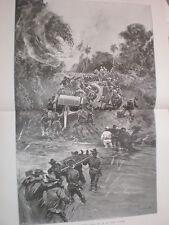 Spanish American WAR Battaglia San Juan SANTIAGO DE CUBA un brutto Corner 1898 Print