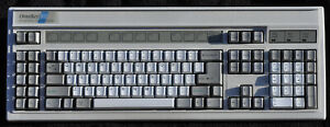 Northgate OmniKey 102 keyboard. Mechanical SKCM white Alps.  Clicky! w/adapters!