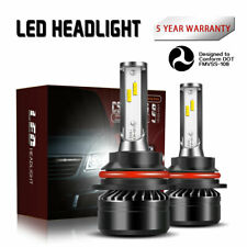 9007 HB5 LED Headlights Bulb 40W 10000LM Kits Hi/Low Beam 6000K White Light DTC