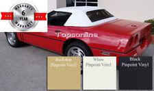 Chevrolet Corvette Convertible Top W/Plastic Window & Video, Haartz Vinyl 86-93