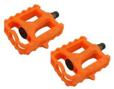 "New! Bicycle PVC Pedals 9/16"" Orange 202-394"