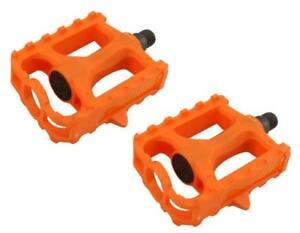 "New! Original 9/16"" Bicycle PVC Platform Pedals In Orange."