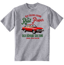 VINTAGE ITALIAN CAR FIAT 124 SPORT COUPE - NEW COTTON T-SHIRT