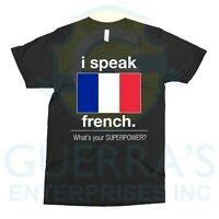 T-Shirt I Speak French Tee T Shirt Bilingual People Funny Gift Teacher Professor