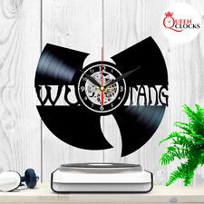 WuTang Clan Music LP Vinyl Record Wall Clock Wu Tang Band Fans Gifts Art Decor