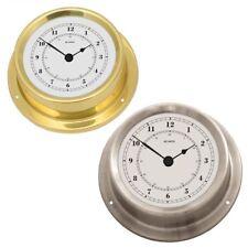 Fischer Horloge Quartz Série Nautic Ø 125 MM Inox Laiton Poli Maritime Montre