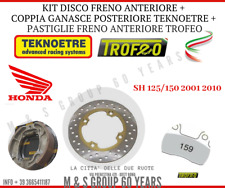 KIT FRENI HONDA SH 125 150 01/14 GANASCE DISCO ANTERIORE PASTIGLIE POSTERIORI