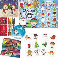 Set Gioco Attività Bambini Natale Calza Filler Ragazzi Ragazze Giocattoli Regali di Natale
