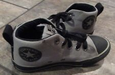 Converse All Stars High Top  Sneakers Size 13 Junior Chuck Taylor Shoes Gray/Bla