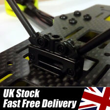 V Antenna Receiver Mount - Black - FrSky CC3D FPV  **UK Stock**