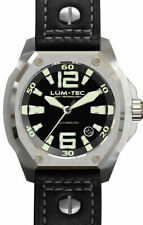 Lum-Tec Watch - V Series - V1 Automatic Mens w/ Black Leather Limited Edition