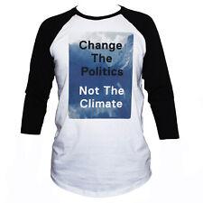 GLOBAL WARMING T SHIRT-Retro 3/4 Sleeve Climate Change Men's Women's Tee