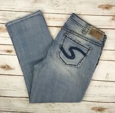 Womens Silver Jeans Capris Mid Rise Suki Cropped Stretch Jean Plus 14,16,18,20