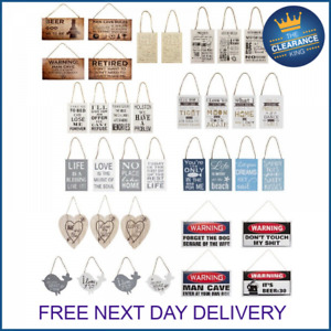 new small wooden hanging wall signs plaques shabby chic home decor 4 designs