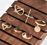 7PCS/Set Gold Midi Finger Ring Set Vintage Punk Boho Knuckle Rings Jewelry Gift