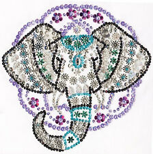 Bead & Sequin Embroidery Kit ~ Design Works Zendazzle Elephant #DW4405