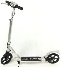 Scooter Commuter Push Scooter BIG Wheel Hand Brake Adult Kids Anodizing Silver