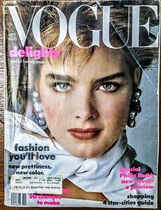 Vogue October 1983 Brooke Shields