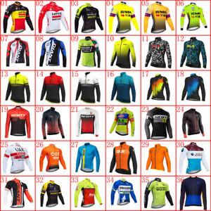 2021 Mens Team cycling long sleeve Jersey bicycle shirt racing tops bike uniform