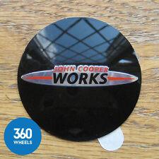 1 x NEW GENUINE MINI JCW CENTRE CAP EMBLEM PLAQUE WORKS BADGES HUB WHEEL ALLOY