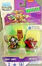TEENAGE MUTANT NINJA TURTLES CASEY JONES/SPLINTER HERO PORTAL NICKELODEON NEW