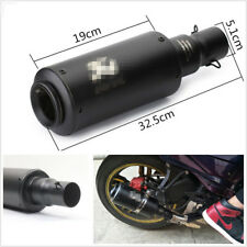 Black Metal 51mm Inlet Motorcycle Modified Exhaust Pipe Muffler With Accessories