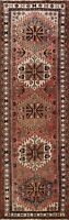 Geometric Semi Antique Mahal Hand-knotted Runner Rug Oriental Wool Carpet 3'x10'