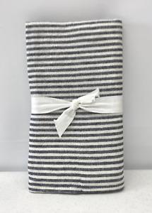 NEW Pottery Barn Wheaton Striped Linen Cotton STANDARD Sham~Navy Blue