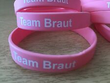 "1 Stk.Silikon Armband rosa ""Team Braut"" Junggesellinnenabschied,JGA Accessoires"