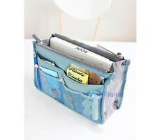 Handbag Insert Organizer Purse Dual Storage Bag in Bag  Multi Pockets Blue