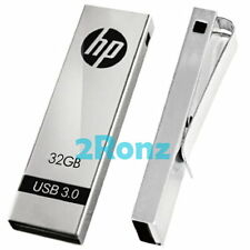HP x710w 32GB 32G USB 3.0 Flash Drive Disk Thumb Stick Memory Clip Metal Sliver