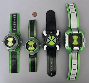 Lot of 4 BEN-10 Omnitrix WATCHES - Alien Force - All Different - Rare