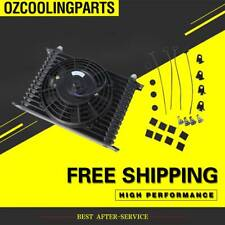 "15Rows 10AN Racing Engine Transmission Oil Cooler+ 7""Electric Fan Kit"