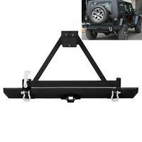 For Jeep Wrangler 87-06 TJ YJ Rock Crawler Rear Bumper W/Tire Carrier & D-ring