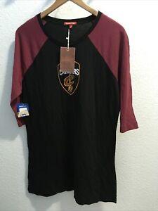 mitchell & ness womens Cleveland Cavaliers Raglan T Shirt Dress Sz M (nwt)