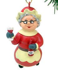 Tree Buddees Wino Mrs. Claus Christmas Ornament Funny Wine Ornaments Mrs Santa