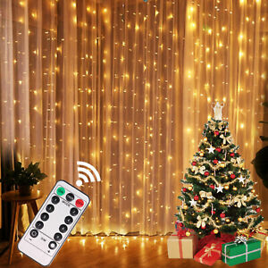 Christmas Lights Curtain Garland Merry Christmas Decorations For Home Xmas Gift