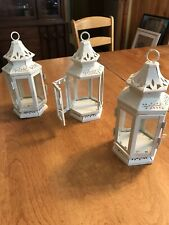wedding lantern Metal White