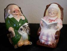 "Original Vintage Grandpa & Grandma Retirement Fund ""Piggy Bank"" - Lefton - Japan"