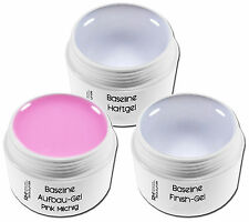 3x 15ml UV Gel Spar Set Haft- Aufbau Pink michlig Glanz- Gel Nageldesign Set 3