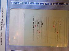 Microscale Decal N  #60-4158 Finger Lakes Railway Diesel Dates1995+