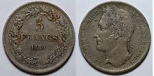 BELGICA.  5  FRANCOS  1849.  MBC +