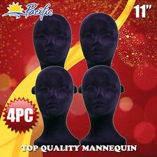 "11"" STYROFOAM FOAM black MANNEQUIN MANIKIN head display wig hat glasses"