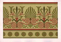 1892 Aufdruck ~ Platte XVIII Ornamentist Aesthetic Audsley Deko Antik Chromo