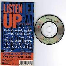 """QUINCY JONES Listen Up JAPAN 3""""CD SINGLE WPDP-6260 UNSNAPPED Ray Charles/Ice-T"""