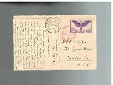 1929 St Gallen Switzerland Graf  Zeppelin cover to USA LZ 127 # C 12