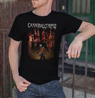 CANNIBAL CORPSE Men Black T-Shirt Torture Death Metal Band Tee Shirt